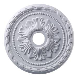 Corinthian - Medallion in Traditional Style with Victorian and Vintage Charm inspirations - 1.5 Inches tall and 21.5 inches wide