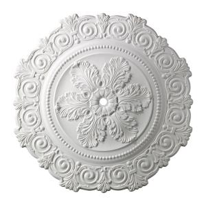 Marietta - Medallion in Traditional Style with Victorian and Vintage Charm inspirations - 2 Inches tall and 33 inches wide