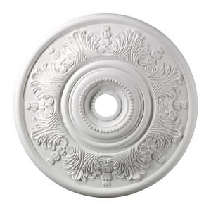 Laureldale - Medallion in Traditional Style with Victorian and Vintage Charm inspirations - 2 Inches tall and 30 inches wide