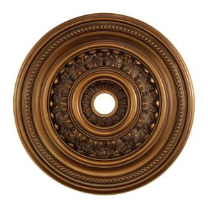 English Study - Medallion in Traditional Style with Victorian and Vintage Charm inspirations - 4 Inches tall and 32 inches wide