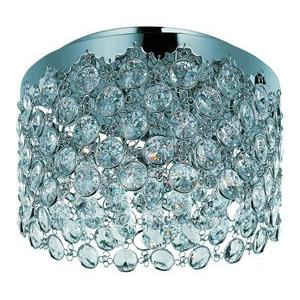Dazzle-Three Light Flush Mount in Crystal style-15 Inches wide by 9 inches high