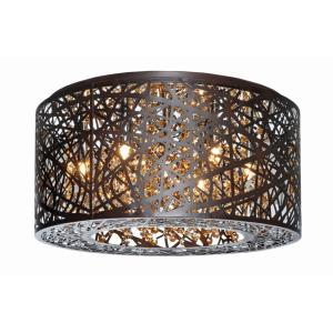 Inca-20.3W 7 LED Flush Mount in Contemporary style-15.75 Inches wide by 8.75 inches high