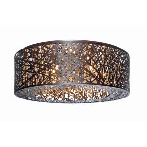 Inca-9 Light Flush Mount in Contemporary style-23.5 Inches wide by 8.75 inches high