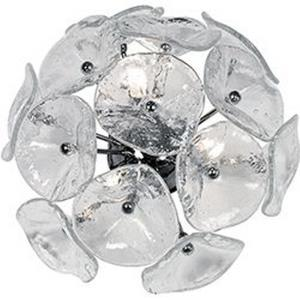 Fiori-3 Light Flush/Wall Mount in Leaf style-14.25 Inches wide by 7.5 inches high