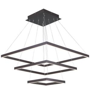 Quad-300W 3 LED 3-Tier Pendant in Contemporary style-27.75 Inches wide by 1.25 inches high
