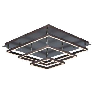 Quad-300W 3 LED Flush Mount in Contemporary style-30 Inches wide by 1.25 inches high