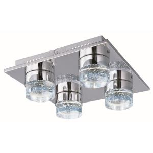 Fizz IV-30W 4 LED Flush Mount in Mediterranean style-13 Inches wide by 13 inches high