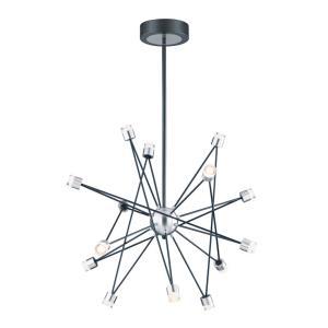 Phaeton Chandelier 14 Light Aluminum/Steel/Acrylic