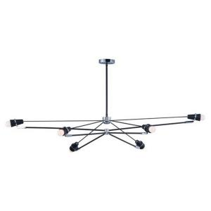 Bounce-48W 6 LED Pendant-40.75 Inches wide by 9.25 inches high