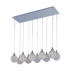 Brilliant-Ten Light Pendant in Crystal style-11 Inches wide by 7 inches high