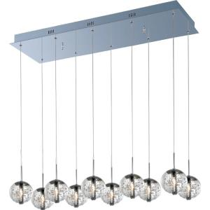 Orb-10 Light Pendant in European style-11 Inches wide by 7 inches high