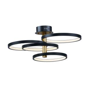 Hoopla-64W 1 LED Pendant-33.5 Inches wide by 11.25 inches high