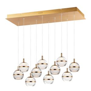 Swank-60W 10 LED Pendant in Barn style-12.5 Inches wide by 5.5 inches high