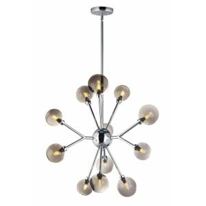 Asteroid Chandelier 12 Light Stainless Steel/Glass