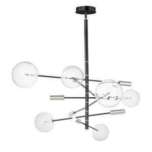 Global Chandelier 6 Light Steel/Glass