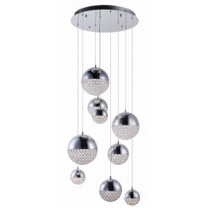 "Eclipse - 24.25"" 63W 9 LED Pendant"