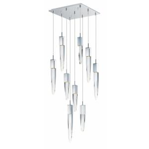 "Quartz - 15.75"" 54W 9 LED Pendant"