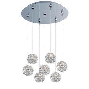 Brilliant - Seven Light RapidJack Pendant and Canopy