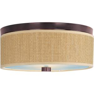 Elements-2 Light Flush Mount in European style-14 Inches wide by 6.25 inches high