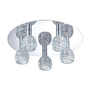 Wave - Five Light Flush Mount