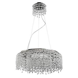 Fonte Round Chandelier 8 Light - 23.5 Inches Wide by 10 Inches High