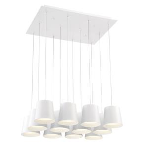 Borto Chandelier 12 Light - 20 Inches Wide by 8.25 Inches High