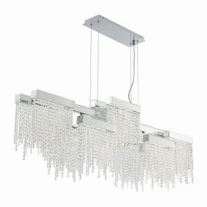 Rossi - 51.25 Inch 100W 10 LED Linear Chandelier