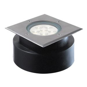 "5.88"" 6W 6 LED Square ShallowIn-Ground Light"