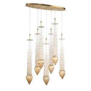 Cascata Oval Chandelier 8 Light