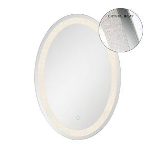 31W 1 LED Oval Back-Lit Mirror - 21.75 Inches Wide