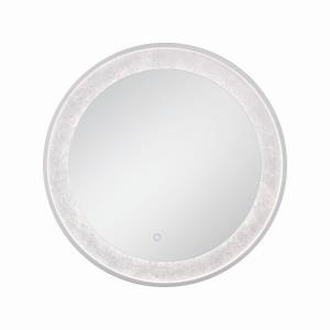 30 Inch 29W 1 LED Round Edge-Lit Silver Leaf Mirror