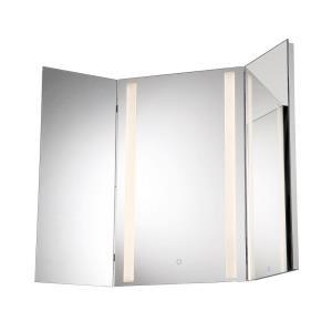 43.5 Inch 36W 1 LED Small Tri-Fold Mirror
