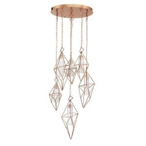 Verdino - 30W LED Round Chandelier in Art Deco Glam Style - 24.5 Inches Wide by 24 Inches High
