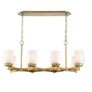 Manchester Linear Chandelier 8 Light - 16 Inches Wide by 18 Inches High