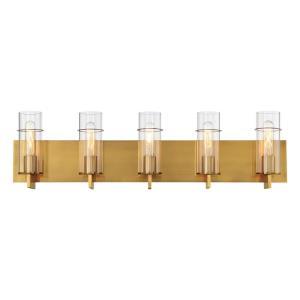 Pista - 33.75 Inch 300W 5 LED Bath Bar