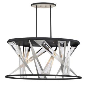 Sarise Oval Chandelier 7 Light - 13.75 Inches Wide by 19.75 Inches High