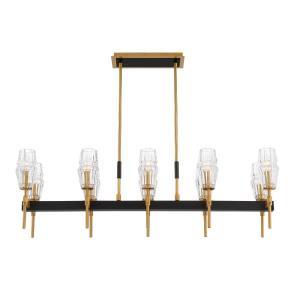 Gladstone Chandelier 10 Light  Glass/Metal