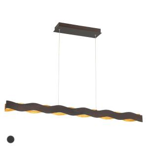 Ripple Linear Chandelier 1 Light  Metal