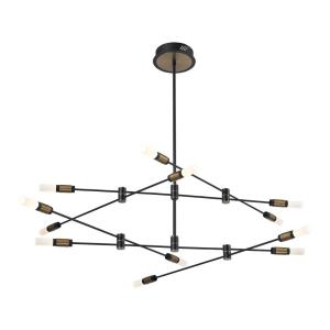 Albany Chandelier 1 Light Convertible Light - 41 Inches Wide by 11.5 Inches High