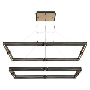 Admiral Rectangular Chandelier 1 Light - 29 Inches Wide by 2 Inches High