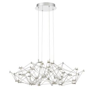 Leonardelli - 40W 80 LED Small Chandelier in Contemporary Style - 27 Inches Wide by 7.5 Inches High