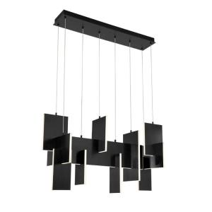 Coburg - 129W 1 LED Extra Large Linear Chandelier in Transitional Style - 14 Inches Wide by 23 Inches High