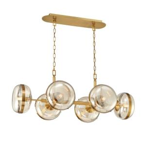 Nottingham - 6 Light Oval Chandelier in Transitional Style - 21 Inches Wide by 17.5 Inches High