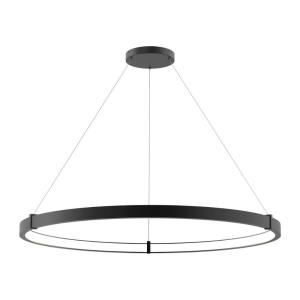 Mucci - 73W 1 LED Medium Inward Pendant in Transitional Style - 48 Inches Wide by 2 Inches High