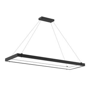 Mucci - 76W 1 LED Inward Rectangular Pendant in Transitional Style - 18.75 Inches Wide by 2 Inches High