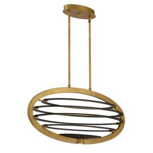 Ombra - 110W 2 LED Oval Chandelier in Transitional Style - 17.25 Inches Wide by 17.25 Inches High