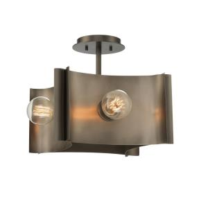 Metallo - 4 Light Semi-Flush Mount in Transitional Style - 17 Inches Wide by 12.5 Inches High