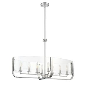 Campisi - 8 Light Oval Chandelier in Transitional Style - 16 Inches Wide by 22.5 Inches High