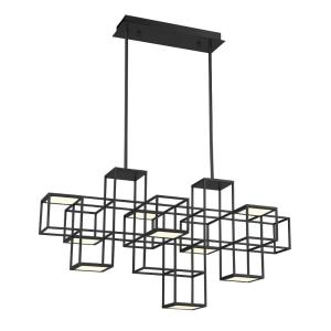 Ferro - 48W 1 LED Linear Chandelier in Contemporary Style - 15.5 Inches Wide by 21 Inches High