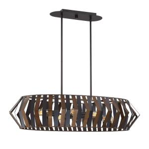Bevelo - 6 Light Oval Chandelier in Transitional Industrial Style - 2.75 Inches Wide by 8 Inches High